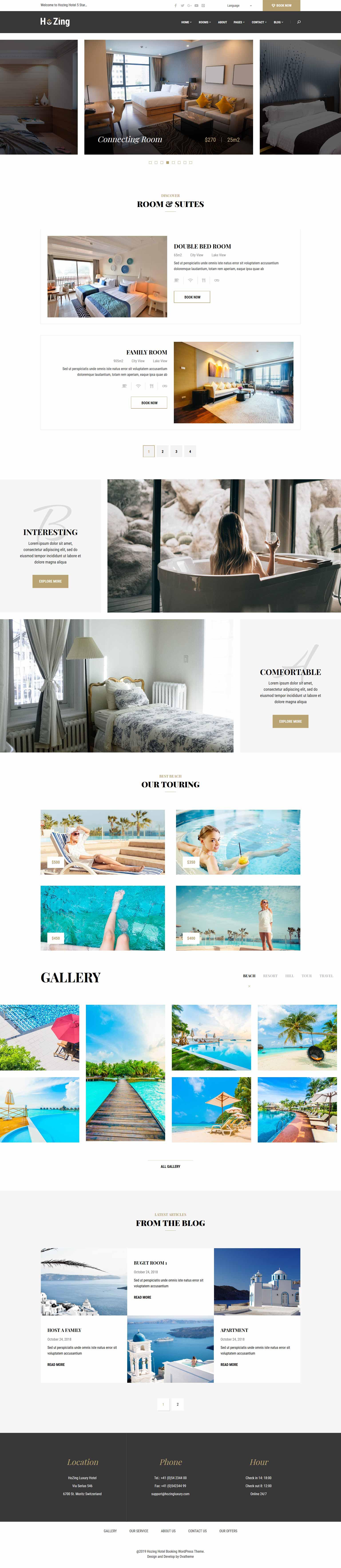 разработка и создание сайтов гостиц и отелей