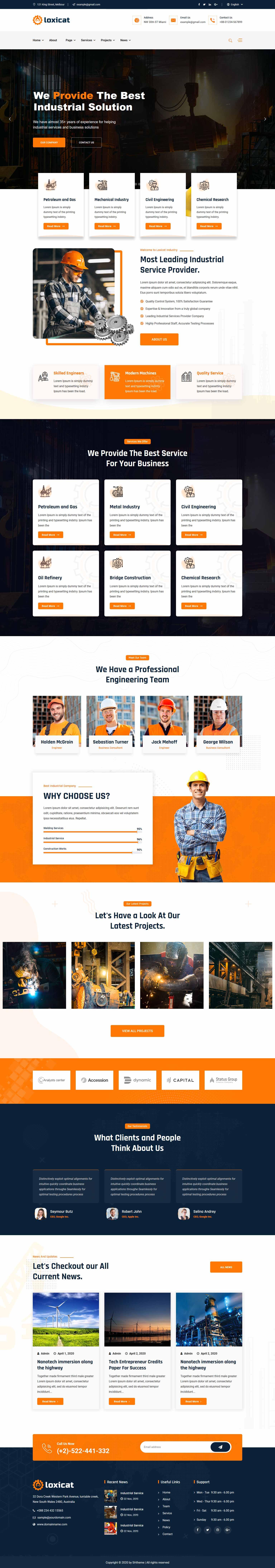 разработка и создание сайтов для производственных организаций
