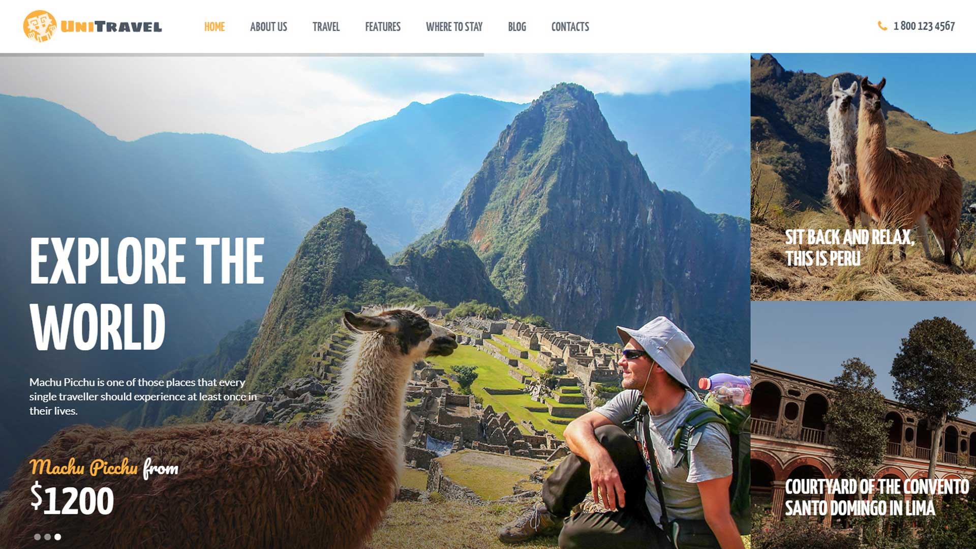разработка и создание сайта туристического агенства